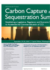 ACI`s 4th Annual Carbon Capture and Sequestration Summit Brochure