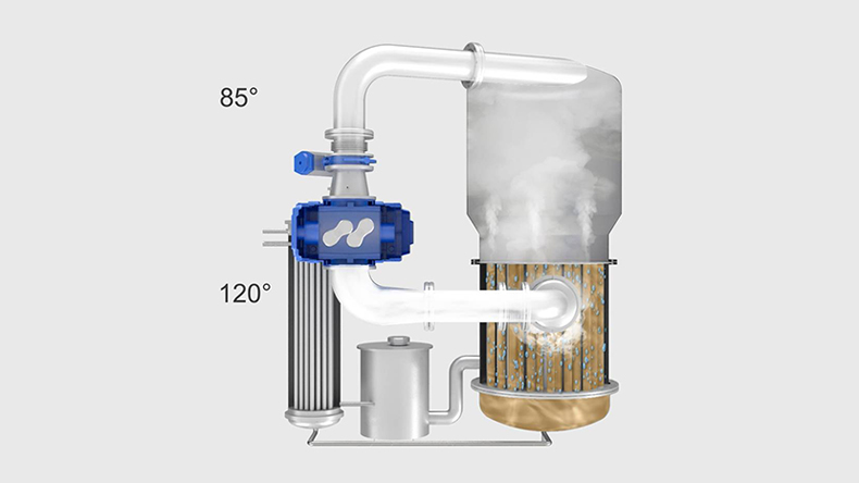 Sterile wastewater treatment with vacuum distillation