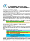 U.S. ENVIRONMENTAL PROTECTION AGENCY  TIER I QUALIFIED FACILITY SPCC PLAN TEMPLATE     Instructions to Complete this Template  This template is i