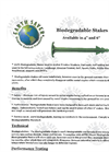 Model 4 and 6 - Biodegradable Stakes Datasheet
