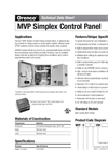 Simplex - Model MVP Series - Control Panels Brochure