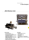 JDU Dilution Unit Datasheet