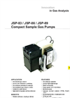 JSP-83 / JSP-86 / JSP-89 Compact Sample Gas Pumps Datasheet