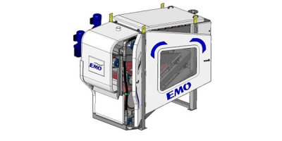 KAMPS - Model OMEGA CC - Compact Combined System of Sludge Thickening & Dewatering