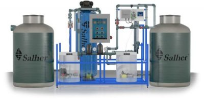 Model GRISAL-AUT-S - Compact Station for Water Reuse for Above-Ground Installation