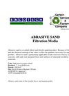 Abrasive Sand Filtration Media Brochure