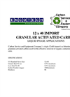 12 x 40 Import Granular Activated Carbon Brochure