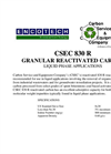 CSEC 830 R Granular Reactivated Carbon Brochure
