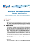 ecoStorm - Plus Stormwater Filtration – Specification