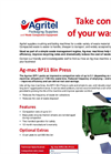 Ag-mac - Model BP11 - Compactor Bin Press - Brochure