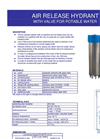 Air Release Hydrant With Valve For Potable Water Brochure