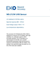 MS-212W Precision UV-B Radiometer Sensor - Technical Specifications
