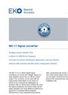 MC-11 Digital Signal converter - Technical Specifications