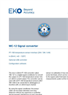 MC-12 Digital Signal Converter - Technical Specifications