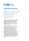 WISER Spectroradiometer - Technical Specifications