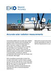 Instruments and analyzers for accurate solar radiation measurements - Brochure