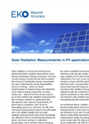 Instruments and analyzers for solar radiation measurements in PV applications - Brochure