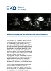 Instruments and analyzers for measure spectral irradiance of sun simulator - Brochure