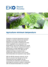 Instruments and analyzers for agriculture minimum temperature - Brochure