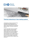 Instruments and analyzers for thermal conductivity in floor heating systems - Brochure