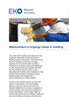 Instruments and analyzers for measurement of engergy losses in building - Brochure
