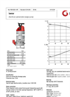 Grindex - (4.1 kW - 4) - Senior Electrical Submersible Sludge Pump Data Sheet