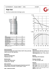 Grindex - (5.3 - 5.6 kW - N : 4 - H : 3) - Major Inox Electrical Submersible Drainage Pump Data Sheet