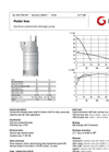 Grindex - (8.0 - 7.8 kW - N : 4 - H : 3) - Master Inox Electrical Submersible Drainage Pump Data Sheet