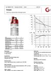 Grindex - (20 kW - N : 6 - H : 4) - Matador Electrical Submersible Drainage Pump Data Sheet