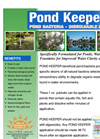 Pond Keeper Beneficial Bacteria - Dissolvable Packets Data Sheet (PDF 2.50 MB)