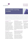 Sustainability Reporting Checklist