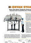 Bryan - Model DSH & DST Series - Spray-scrubber Type Deaerators - Brochure