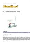 ChemGrout - Model CG-050M - Manual Grout Pump - Brochure