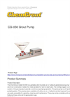 ChemGrout - Model CG-050 - Grout Pump - Brochure