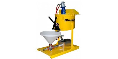 ChemGrout - Model CG-550P Mini Series - Skid Mounted, Air Powered Grout Machine