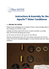 Instructions & Assembly for the Aquafer Water Conditioner