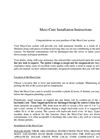 Maxi-Cure Installation Instructions
