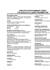 T23 Specific Ion (pION) Transmitter Spec Sheet
