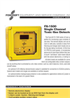 FX-1500 Fixed Single Channel Toxic Gas Detector Brochure