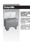 Clean-O-Matic - Solvent Parts Washers Brochure