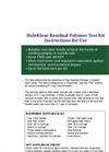 HaloKlear Residual Test Kit - Instructions