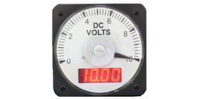 Model HLS-110DI (Two-Vue), 4.25 Inch - Switchboard DC or AC Analog and Digital Combo Panel Meter
