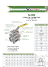 M-302 3 Piece Full Port Ball Valve Brochure
