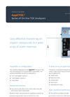 AppliTek AppliTOC - Series of On-Line Total Organic Carbon (TOC) Analyzers - Datasheet