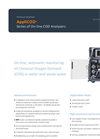 AppliTek AppliCOD - Series of On-Line COD Analyzers - Dataheet