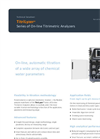 TitriLyzer Series of On-line Titrimetric Analyzers Brochure