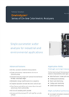 AppliTek EnviroLyzer - Series of On-Line Colorimetric Analyzers - Datahseet