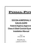 Escon-A and Ferro-Shield - Preinsulated Piping System Manual
