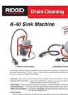 Ridge - Model K-40 - Sink Machine Brochure