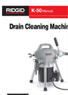 Ridge - Model K-50 - Sectional Drain Cleaning Machine  Brochure